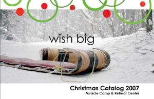 Christmas Catalog Cover 2007